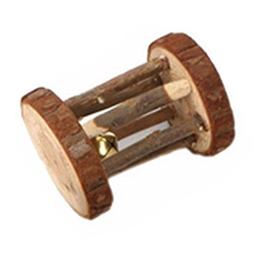 Gilroy Wooden Chew Toys Bell Roller Teeth Care Molar Toy for