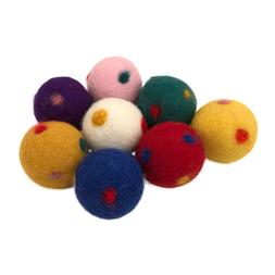 Wool Ball Cat Toys, Eco Friendly Safe for All Animals, Polky