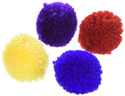 Wool Pom Poms CatNip Size:Pack of 4