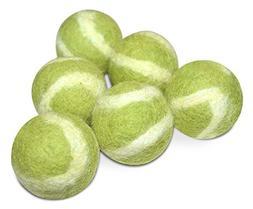 Comfy Pet Supplies Set of 6-100% Wool Tennis Swirl Balls for