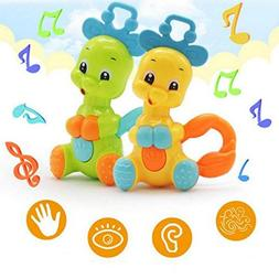 Gbell Wrist Rattles for Babies, Plastic Handheld Baby Rattle