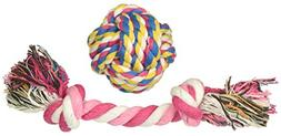 smalllee_lucky_store XCW0016-S Pet Bone and Ball Rope Chew T
