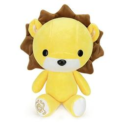 Bellzi Yellow Lion Stuffed Animal Plush Toy - Adorable Plush