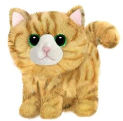 "First & Main 7"" Yellow Striped Fluffles Kitty Cat Basic Plus"