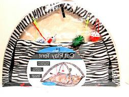 Zebra Print Cat & Kitten Play Tent with Dangle Toys -FREE FR