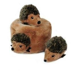 ZippyPaws Burrow Squeaky Hide and Seek Plush Dog Toy, Hedgeh
