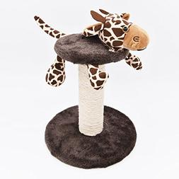 MorePets Zoo Buddies Kitten Small Cat Tree Scratching Post C